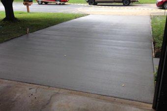 concrete driveway from cornerstone concrete